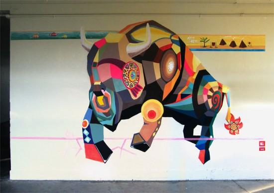 Buffalo Mural Wirtz Elementary © copyright Seitaku Aoyama