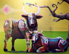 Commission Painting – Bulls