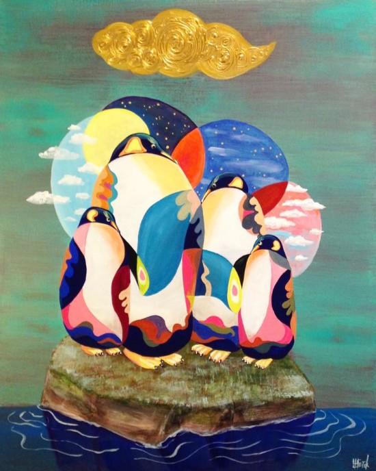Penguin Seitaku Tak Aoyama Commission Painting
