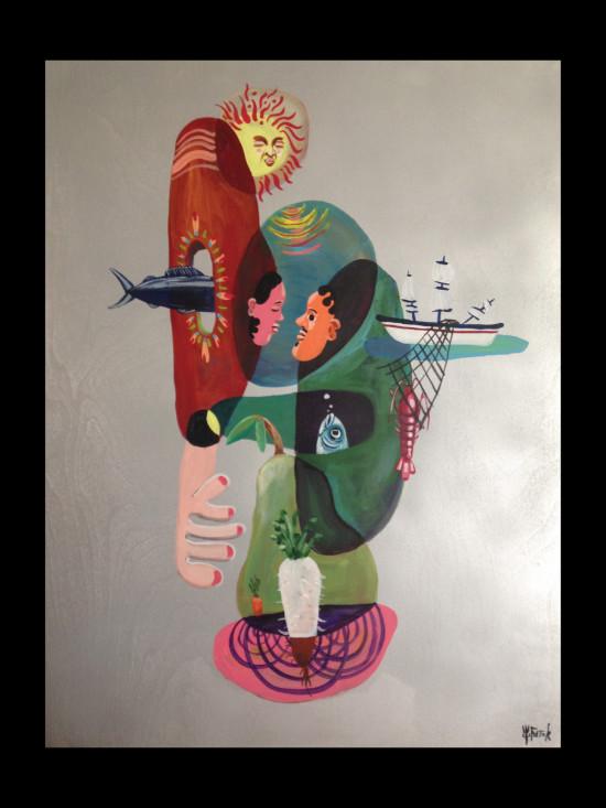 Sea Seitaku Tak Aoyama Commission Painting
