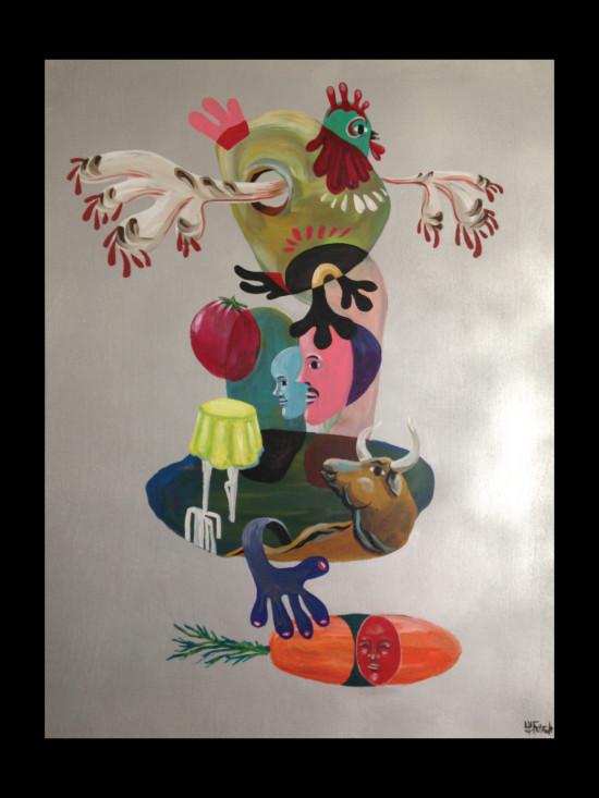 Totem Seitaku Tak Aoyama Commission Painting